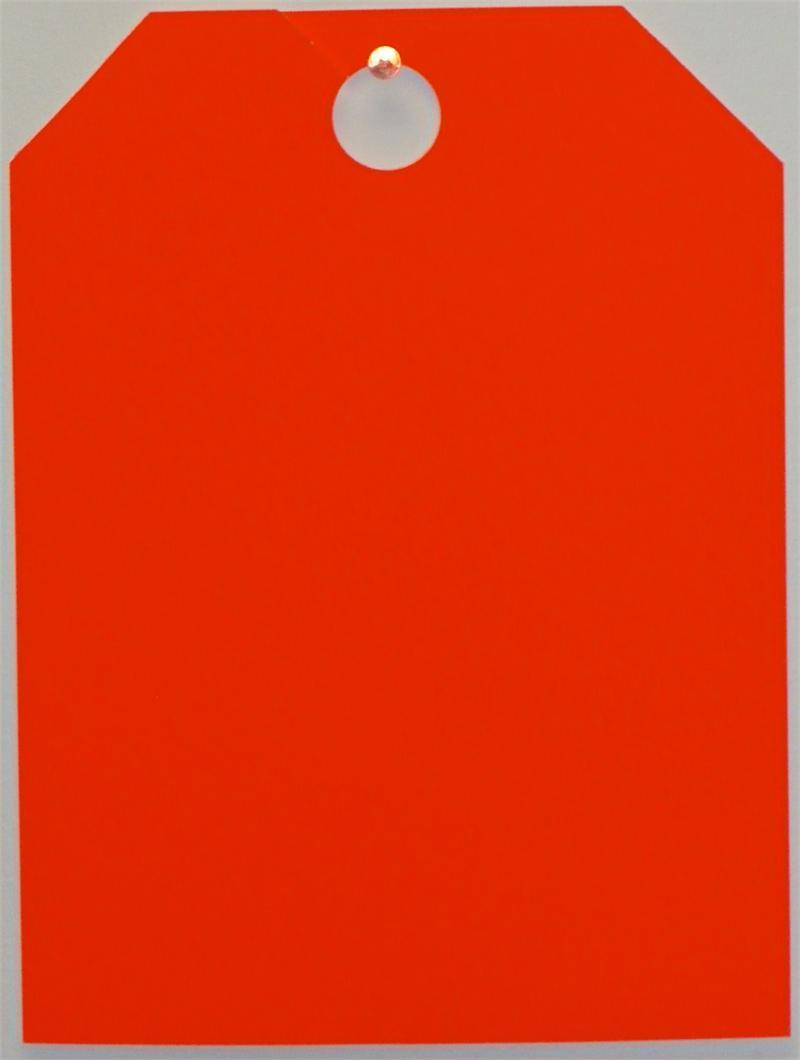 Mirror Hang Tag - Fluorescent - Orange - Blank
