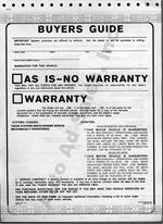 Buyer's Guides / Self Sealing / Implied Warranties 2 Part Form