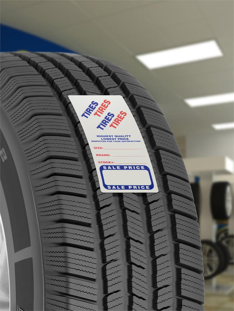 used tire labels