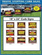 Dealership Curb Signs